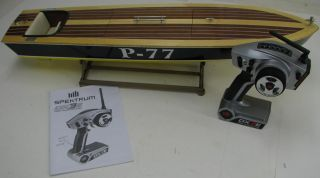 Dumas PT 212 Hull Custom Handcrafted Mahogany Basswood RTR Boat Spektrum DX3E