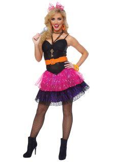 J57 Madonna 80s Pop Star Diva Cyndi Lauper Fancy Dress Hens Party Costume Outfit