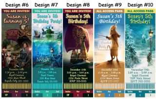Narnia The Lion Witch Wardrobe Birthday Party Ticket Invitations Supplies Favors