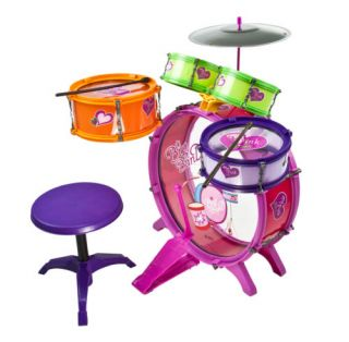 8PC Colorful Music Set Drum Toys Boy Girl Children with Play Stool Kids