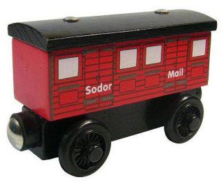 Sodor Mail Car Thomas Friends Wooden Train Coaches RARE B New USA Seller
