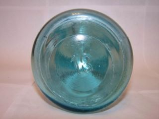 Unlucky 13 Ball Ideal Pat'D July 14 1908 Blue Canning Jar Wire Bail Quart 177