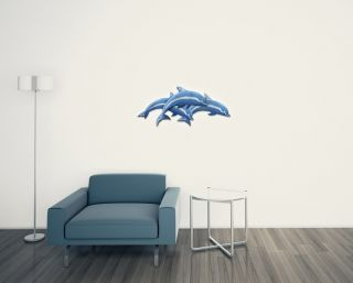 Dolphin Pod Abstract Metal Wall Art by Artist Ash Carl Contemporary Home Décor