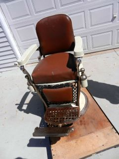 Antique Barber Chair Repair