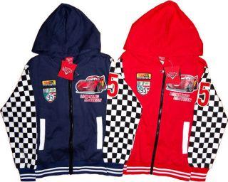 Disney Pixar Cars Childrens Kids Boys Jacket Coat Zip Hoodie Top Clothes Toys