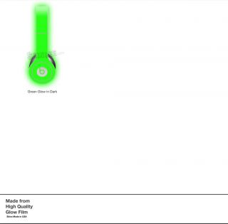Glow in The Dark Skin Kit for Monster Beats by Dr Dre Solo Headphones