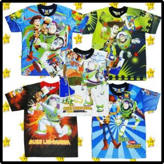 Disney Toy Story Boys Girls Clothes T Shirt Cartoon Characters Buzz Lightyear
