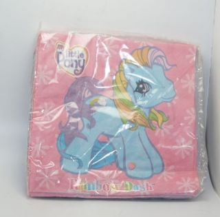 G3 My Little Pony MLP Rainbow Dash 12 Pack Party Napkins Birthday Dessert Drink