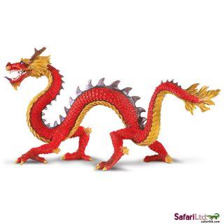 Horned Chinese Dragon 10135 Classic Fantasy Model Free SHIP USA w $25 Safari