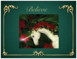 20 Christmas Unicorn Greeting Postcards Post Cards Printed US or Canada