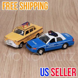 New York Yellow Cab Taxi Police Pull Back Car Toy Kids Gift Baby Pullback Cars