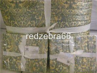 Pottery Barn Blue Amelia Silk Full Queen Quilt 2 Standard Shams Set 3pc New