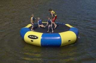 New Inflatable River Lake Bongo 15' Bouncer Water Trampoline Toy Raft Yellow