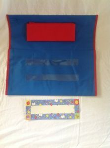 Lot Set of 6 Seat Sacks Store More Chair Pocket Deluxe Blue Red Classroom