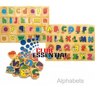 Children's Educational Alphabets Fun Learning Playing Jigsaw Puzzle Wooden Toys