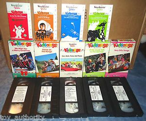 Lot 5 VHS Kidsongs Video Christmas Home Range Talk to Animals Cars Boats More B