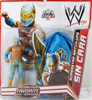 Sin Cara Blue Gold WWE Superstar Match UPS Mattel Toy Action Figure Mask