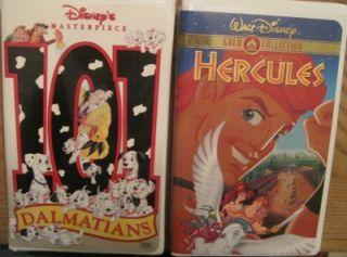 Lot 18 Kids Boys VHS Video All Disney Jungle Robin Oliver Lion Hercules Rescuers