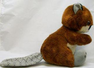 Vintage Large Tail Beaver Plush Stuffed Animal Toy Cute