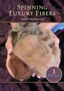 Spinning Luxury Fibers Judith Mackenzie New 3 DVD Set