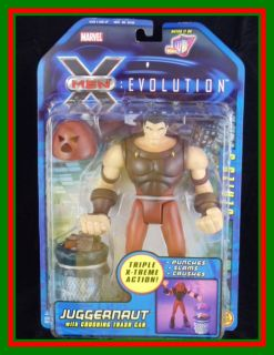 X Men Evolution Juggernaut Action Figure w Crushing T