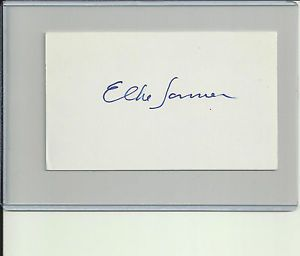 Elke Sommer Autograph Signed Index Card Famous Actress