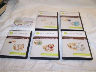 New Wire Sculpture Ring Series 6 DVD Jewelry Making Instructional Set Free SHIP