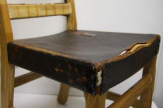 Vintage Mid Century Modern Western Ranch Oak Chair Needs New Leather