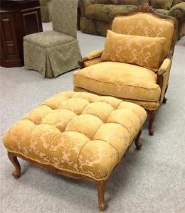 New Drexel Furniture Catherine Chair and Ottoman