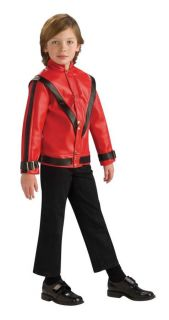 Michael Jackson Thriller 80s Red Deluxe Jacket Child Costume Boy Kid Theme Party