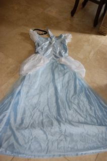 Disney Classic Princess Cinderella Costume Blue Ball Gown Adult Dress Large