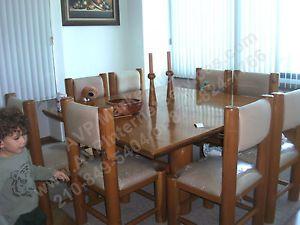 15 Piece Cedro Blanco White Cedar Furniture Dining Table Bar Chairs Shelves