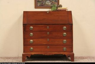 Country Pine Federal 1790's Secretary Desk Secret Compartments