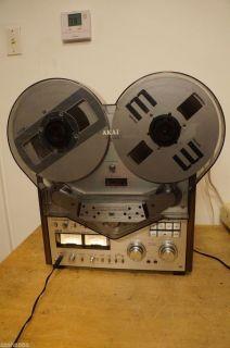 Akai GX 635D Reel to Reel Tape w Hubs Akai Dust Cover Metal Reels