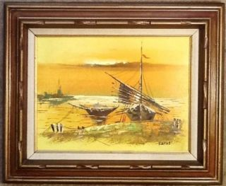 Ignac Kokas 1926 2009 Hungarian Original Oil Painting Signed Framed