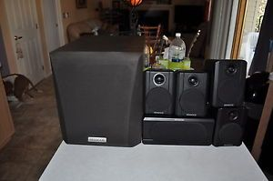 Kenwood SW 15HT Passive Subwoofer Surround Sound Home Theater Speakers Works