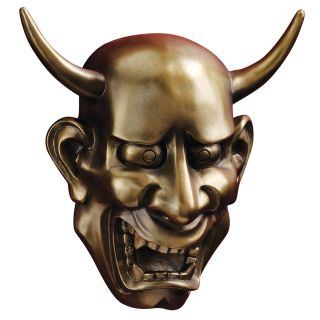 Japanese Noh Theatrical Hannya Jealous Female Demon Wall Mask Sculpture