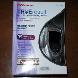CVS Pharmacy True Result Blood Glucose Monitoring System Meter Lancets Strips