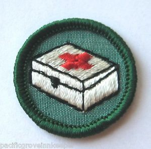 Girl Scout 1963 80 Junior Home Health Safety Badge First Aid Kit Patch Choose