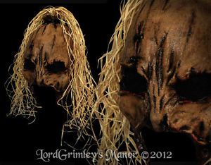 Scarecrow Deluxe Latex Halloween Mask Prop Horror Monster