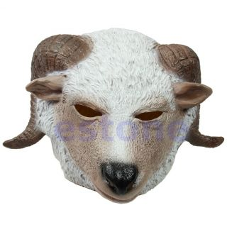 New Horse Unicorn Animal Head Mask Creepy Halloween Costume Theater Prop Novelty