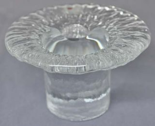 "Vintage Blenko Art Glass Mushroom Candlestick Holder 3"" Label"