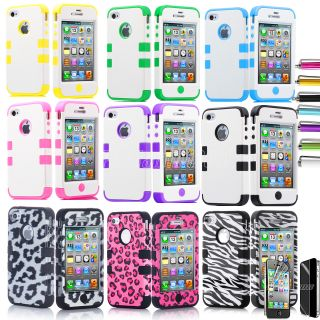 Pen Triple Layer Hybrid Tribal Hard Case Cover for Apple iPod Touch 4 4G 4th Gen