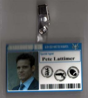 Warehouse 13 ID Badge Special Agent Pete Lattimer