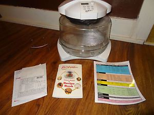 """Thane Housewares """"Flavor Wave Deluxe"""" Oven with Cookbook Cooking Chart"""