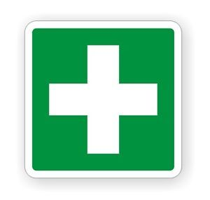 First Aid Vinyl Decal Sticker Label camper Van 4x4 Boat Off Road Safety Kit