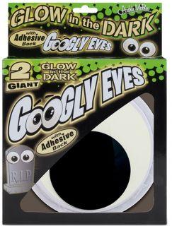 Giant Glow in The Dark Googly Eyes Big Eye Pair Cartoon Adhesive
