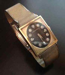 Vintage Longines 17 Jewel Men's Watch 10K Gold Filled Case Diamond Dial