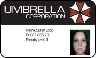 Umbrella Corp ID Card Cosplay Resident Evil Costume
