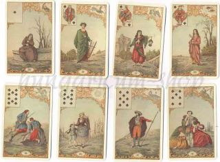 Piatnik Le Jeu Destin Antique 1944 Fortune Telling Cards 2 Languages 122